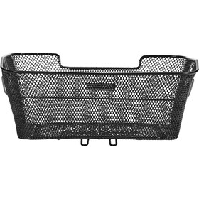 Basil Capri Rear Wheel Basket Bag closely black